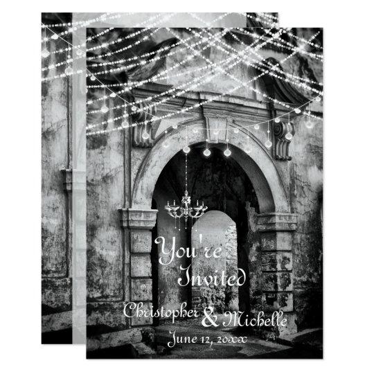 Romantische Licht-gotische 12,7 X 17,8 Cm Einladungskarte