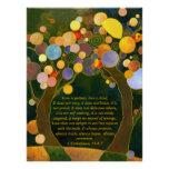 Romantische Liebe-Bäume, die Andenken-Plakat Perfektes Poster