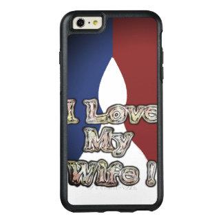Romantische Liebe der französisches Blau-nationale OtterBox iPhone 6/6s Plus Hülle