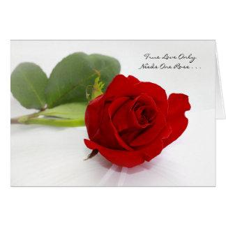 Romantische Liebe der Rosen-I Sie nur eine für Karte