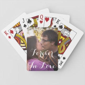 Romantische Liebe-oder Valentinstag-Spielkarten Spielkarten