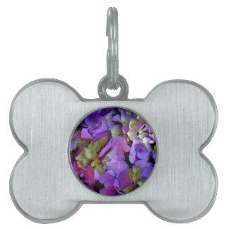 Romantische lila Hydrangeas Tiermarke