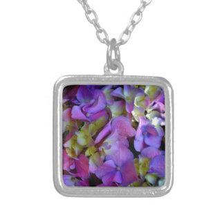 Romantische lila Hydrangeas Versilberte Kette