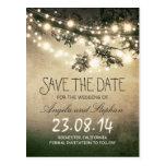 romantische Nacht beleuchtet rustikales Save the Postkarten