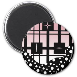 Romantische Nacht Runder Magnet 5,1 Cm