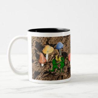 Romantische niedliche Frosch-Tasse Zweifarbige Tasse