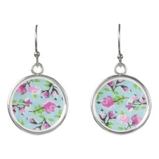 Romantische Ohrringe - mit Blumen