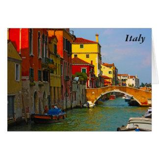 Romantische Plätze in Venedig, Italien Karte