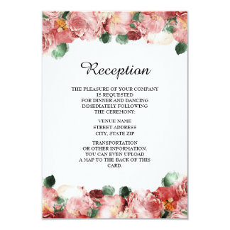 Romantische rosa 8,9 x 12,7 cm einladungskarte