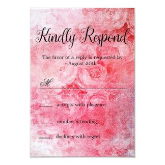 Romantische rosa alte Rose rustikal Karte