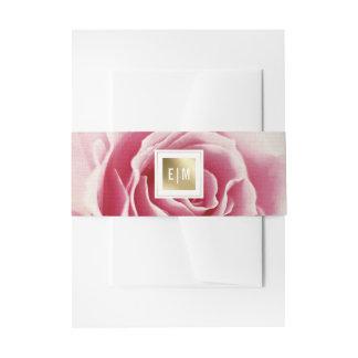 Romantische rosa einladungsbanderole