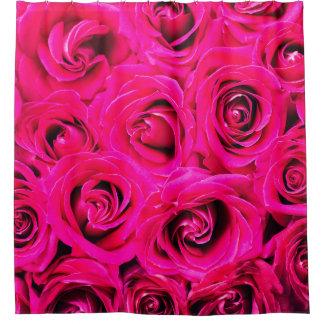 Romantische rosa lila Rosen Duschvorhang