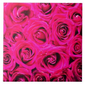 Romantische rosa lila Rosen Fliese