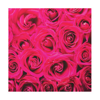Romantische rosa lila Rosen Holzdruck