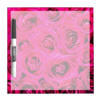 Romantische rosa lila Rosen Trockenlöschtafel