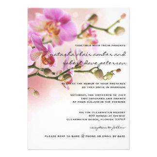 Romantische rosa Orchideen, die Einladungs-12x18 Individuelle Einladungskarte