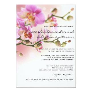 Romantische rosa Orchideen, die Einladungs-12x18 12,7 X 17,8 Cm Einladungskarte