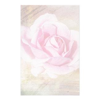 Romantische rosa Rose Personalisierte Büropapiere