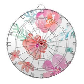 Romantische rosa Watercolor-Blumen Dartscheibe