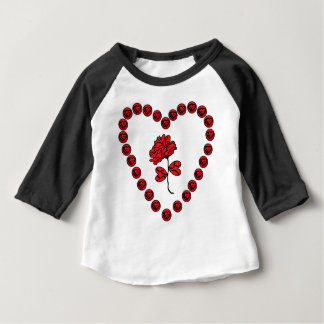 romantische Rose Baby T-shirt