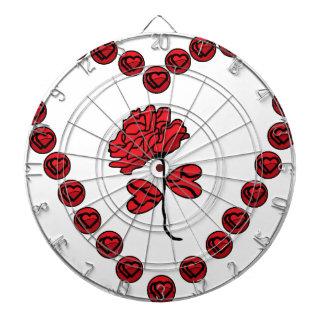 romantische Rose Dartscheibe
