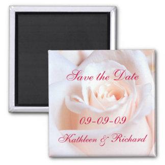 Romantische Rose Save the Date, die Magneten Quadratischer Magnet