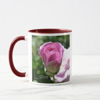 Romantische Rosen-Knospen-Liebe-Kaffeetasse Tasse