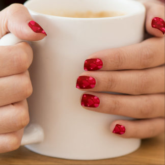 Romantische rote Herzen Minx Nagelkunst