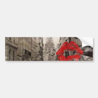 romantische rote Lippen küssen Turm i-Liebeparis Autoaufkleber