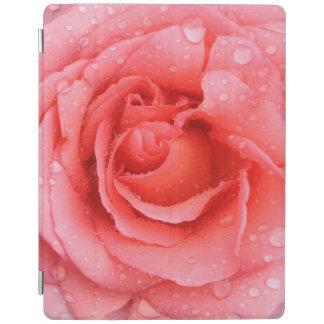 Romantische rote rosa Rosen-Wasser-Tropfen iPad Hülle