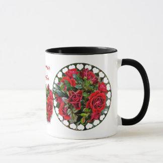 Romantische Rote Rosen ~ Wecker-Tasse Tasse