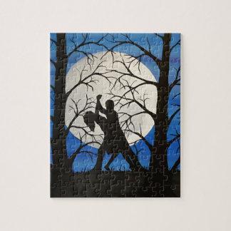 Romantische Silhouettetänzer Puzzle