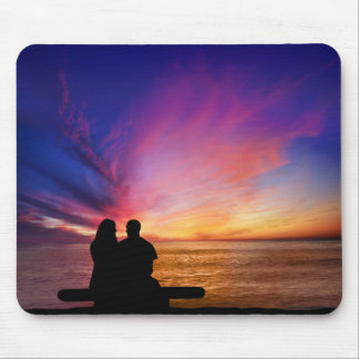 Romantische Sonnenuntergang-Mausunterlage Mousepad