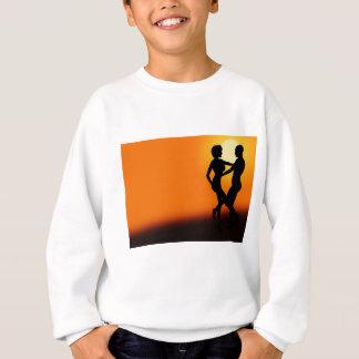 Romantische Sonnenuntergang-Tanzen-Paare Sweatshirt