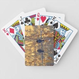 Romantische Spatzenvogelpaare auf einem Draht, Bicycle Spielkarten