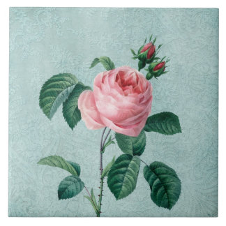 Romantische Spitze-Rose Große Quadratische Fliese