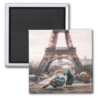Romantische Stadt Paris Quadratischer Magnet