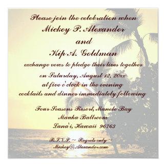 Romantische Strand-Hochzeits-Feier Karte