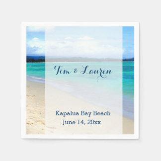 Romantische Strandszene Serviette