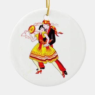 Romantische Tänzer Keramik Ornament
