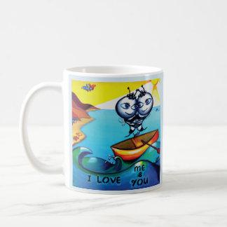 Romantische Tasse 'ich Liebe me&you