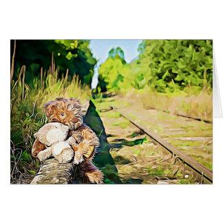 Romantische Teddybär-Zug-Bahn Fräulein-You soviel Karte