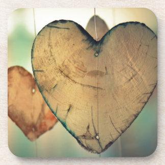 Romantische ValentinetagesLiebeherzen Untersetzer
