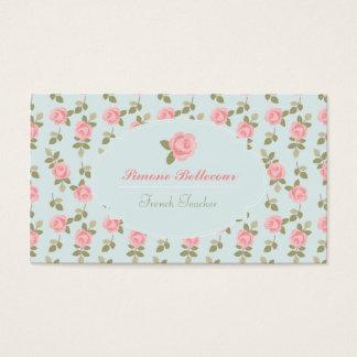 Romantische Vintage Rosen Alices Visitenkarte