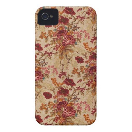 Romantische Vintage Rote Rosen iPhone 4 Hülle