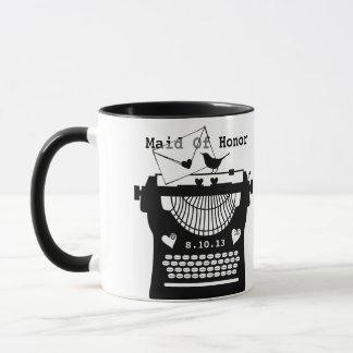 Romantische Vintage Schreibmaschine WP Tasse