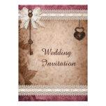 Romantische Vintage Wedding Herz-Verschlüsse und