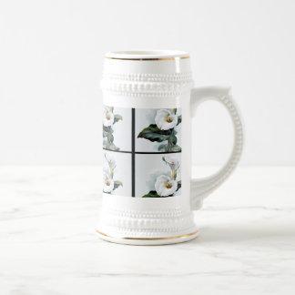 Romantische Vintage weiße Calla-Lilien Bierglas