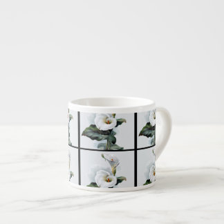 Romantische Vintage weiße Calla-Lilien Espressotasse