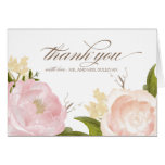 Romantische Watercolor-Blumen danken Ihnen zu Grußkarten